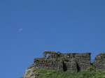 SX07519 Blue moon over wall of Tintagel Castle.jpg
